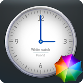White Clock Widget