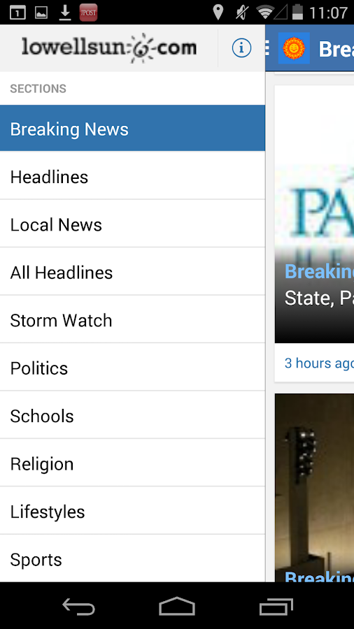 Lowell Sun News - screenshot
