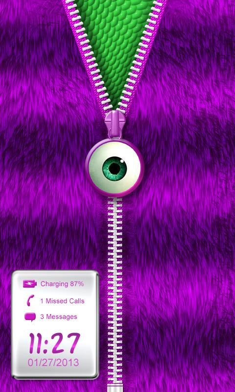 ★Purple Striped Zipper Locker★- screenshot