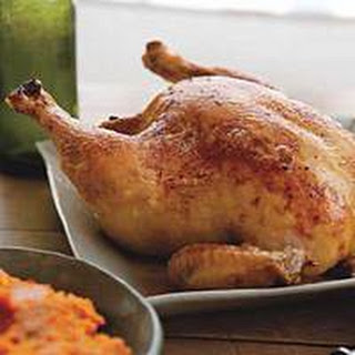 Roast Chicken with Root Vegetable Puree Recipe