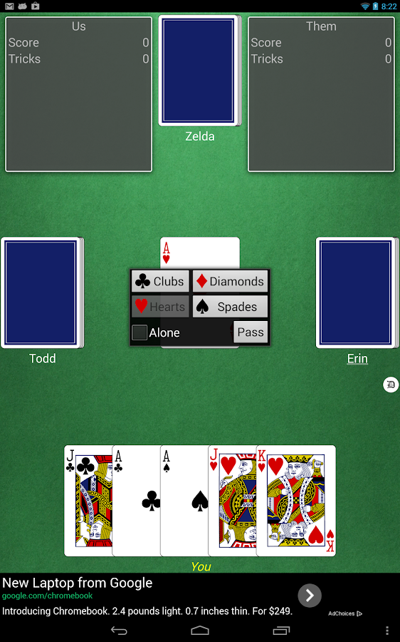 Euchre (free)- screenshot