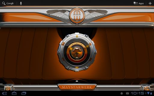 【免費個人化App】Clock Widget Orange Diamond-APP點子