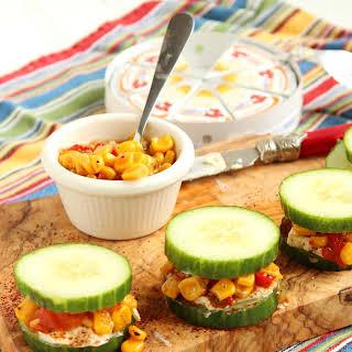 Southwestern Cucumber Sandwiches.