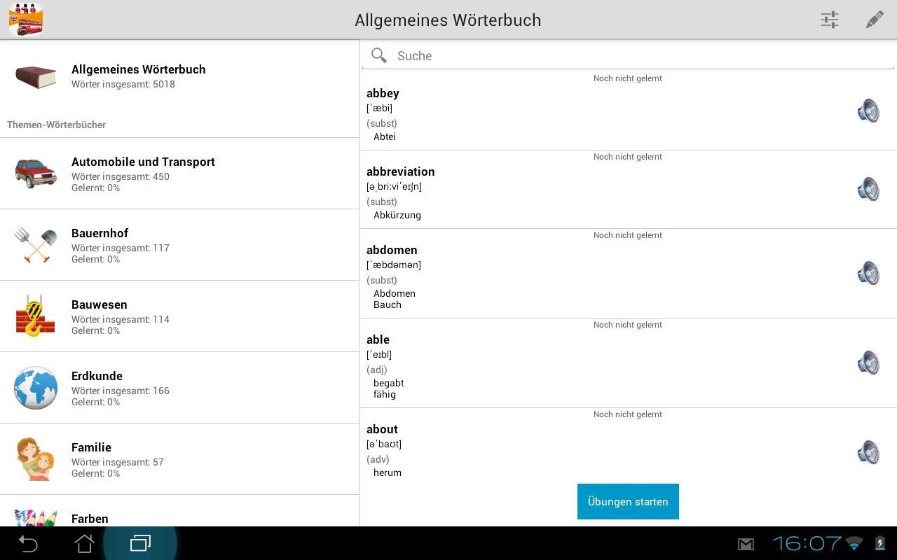 Englische Vokabeln lernen PRO- screenshot