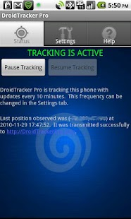 Droid Tracker Pro GPS Tracker - screenshot thumbnail