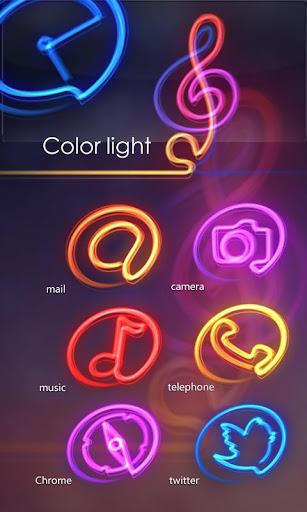 ColorLight GO LauncherEX Theme
