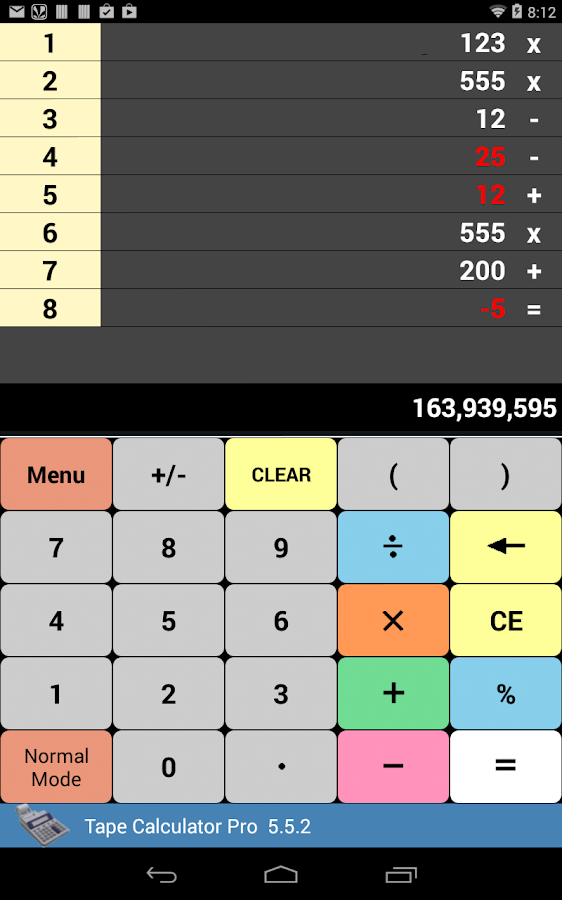 Tape Calculator Pro - screenshot
