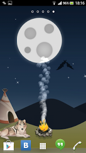 Moon and Fire Live Wallpaper- screenshot thumbnail