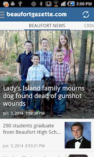 Beaufort Gazette - mobile news - screenshot thumbnail