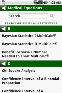 MedCalc 3000 EBM Stats - screenshot thumbnail