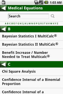 MedCalc 3000 EBM Stats- screenshot thumbnail