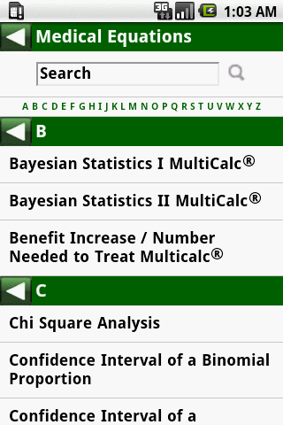 MedCalc 3000 EBM Stats- screenshot