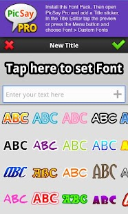 PicSay Pro Font Pack - B- screenshot thumbnail
