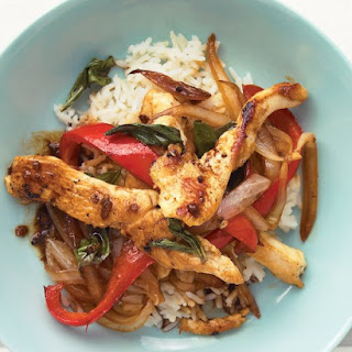 Chicken and Basil Stir-Fry.