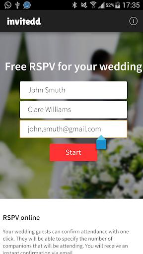 Invitedd RSVP Wedding Planner