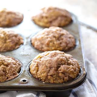 Healthy Cinnamon Sugar Apple Muffins.