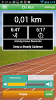 Screenshot of Chi Running Training App
