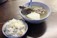 原汁排骨湯,高麗菜飯