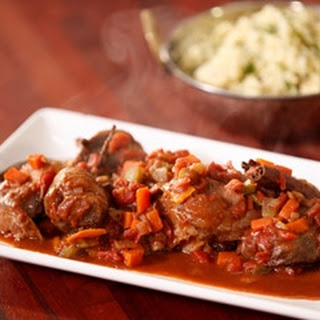 Spiced Veal Osso Bucco With Herbed Couscous