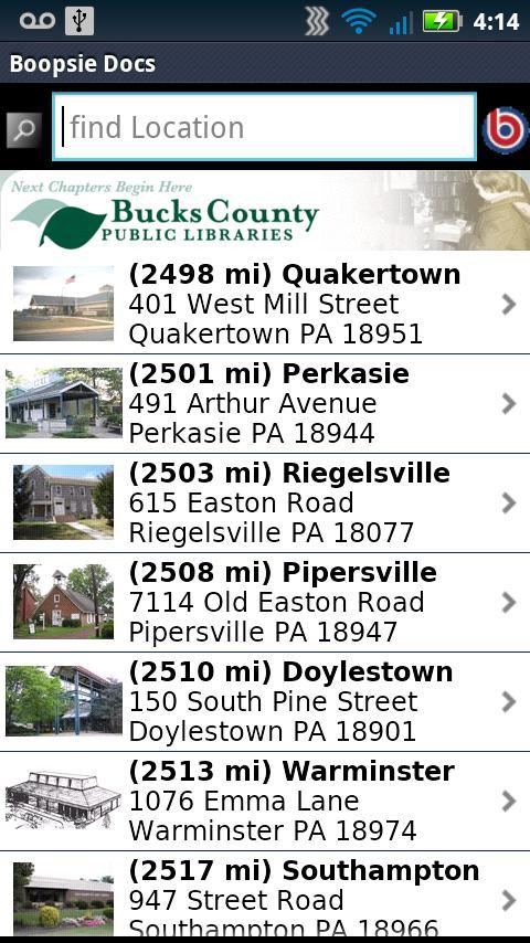 buckslib.org Mobile- screenshot