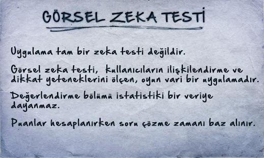 Görsel Zeka Testi - screenshot thumbnail