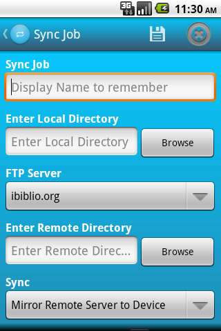 FSync - FTP Client- screenshot
