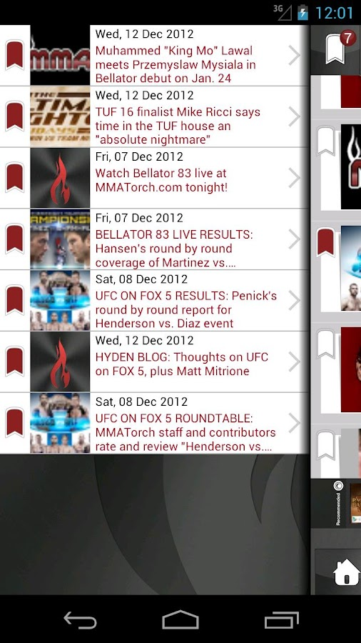 MMA Torch: Live MMA News! - screenshot