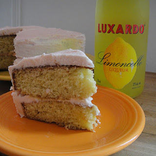 Lemon Layer Cake with Campari Frosting