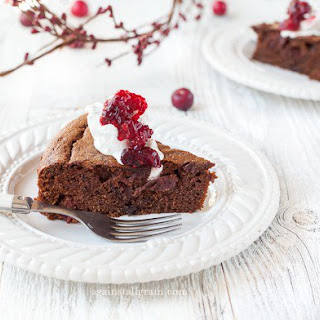 Cranberry Chocolate Gingerbread Cake