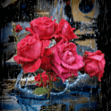 Roses Under Rain Live Wallpape icon