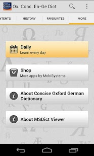 CONCISE OXFORD GERMAN DICT - screenshot thumbnail