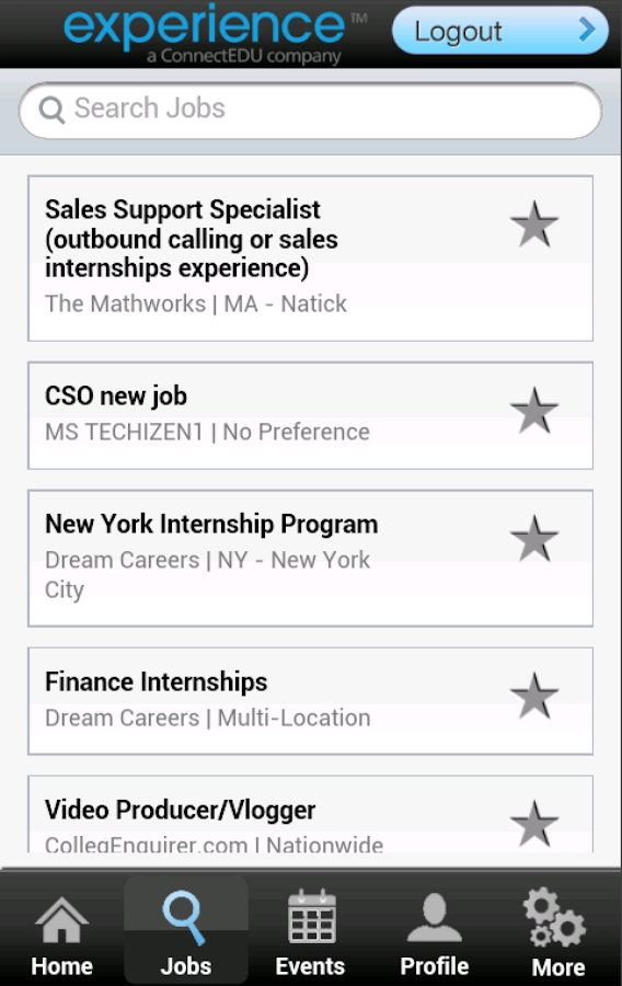 Career Search- screenshot