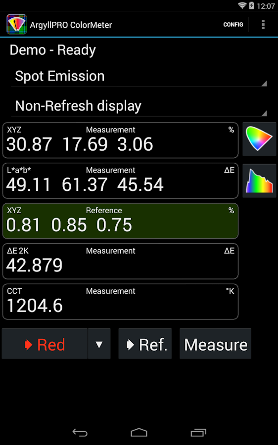 ArgyllPRO ColorMeter- screenshot