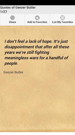 Quotes of Geezer Butler