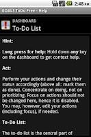 Screenshot of GOALS ToDo Free