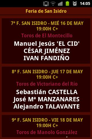 Feria de San Isidro - screenshot