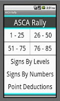 Screenshot of ASCA Rally Obedience