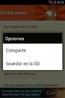 Screenshot of Dj Vilar frases