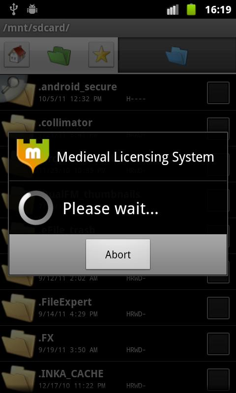 Medieval Licensing System- screenshot