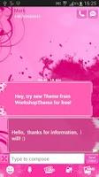 Screenshot of SMS Pro Theme Pink Heart