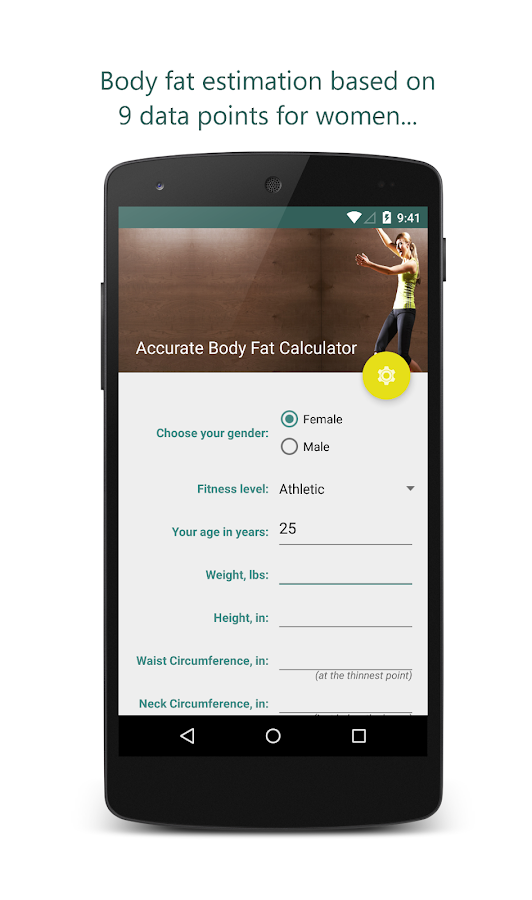 body fat percentage calculators accurate
