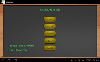 Screenshot of Math flash cards (Tablet)