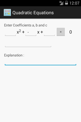 MATH Quadratic Equations