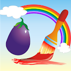 Coloring Book Vegetables icon