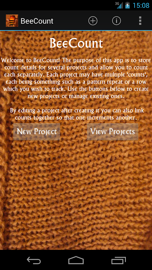 BeeCount Knitting Counter - screenshot