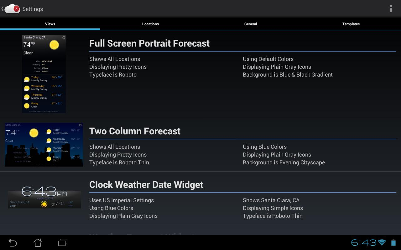Recast Weather and Widgets - screenshot
