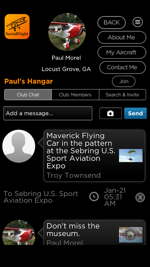 SocialFlight- screenshot