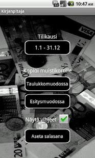 Kirjanpitäjä- screenshot thumbnail