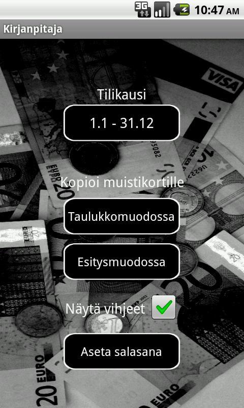 Kirjanpitäjä- screenshot