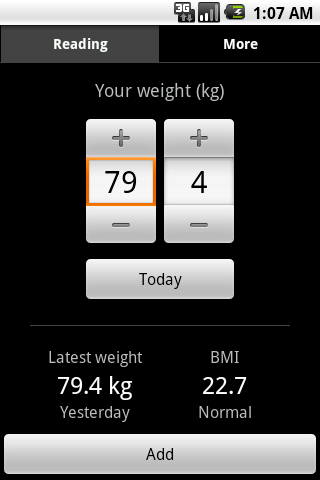 Weight Tracker - screenshot